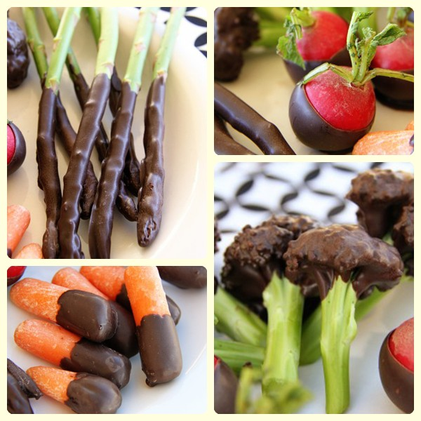 Recetas infantiles divertidas: verduras con chocolate