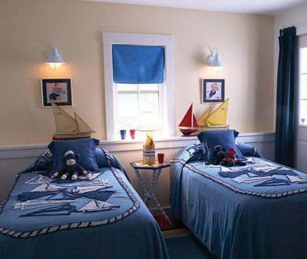 Habitaciones para ni os de estilo n utico decoraci n infantil - Decoracion en paredes para ninos ...