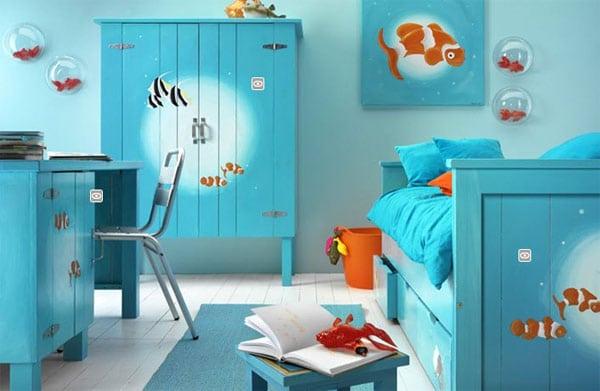 Habitaciones para niños de estilo náutico. decoración infantil