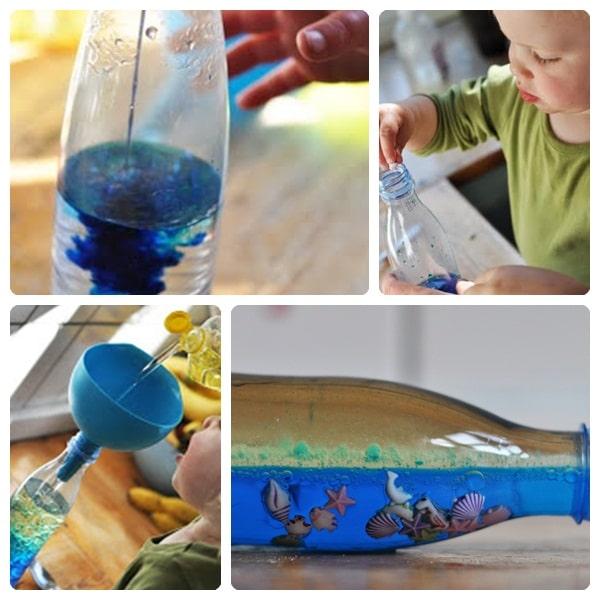 Cómo hacer un mar dentro de una botella