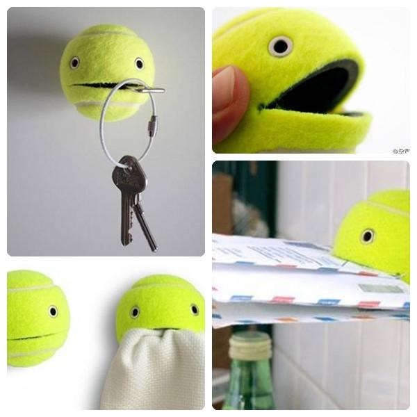 manualidades divertidas con una pelota de tenis
