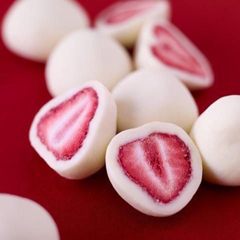 Un original postre de fresas helado 1