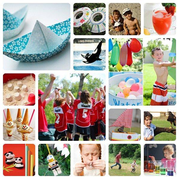 38 actividades con niños en verano - Pequeocio