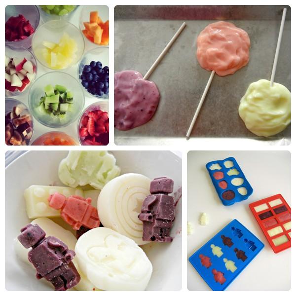 Fiestas para niños: piruletas de yogur