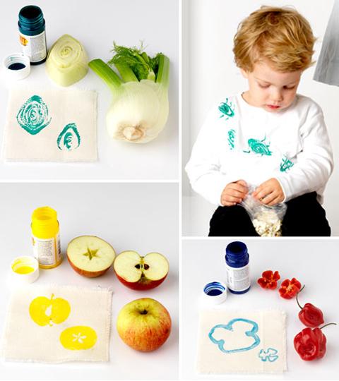 Pintar con frutas 3
