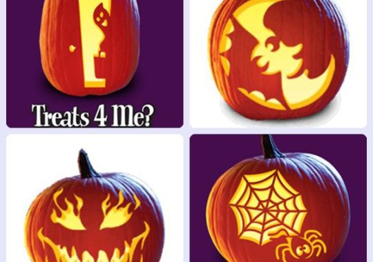 Plantillas gratis para decorar calabazas de Halloween 3
