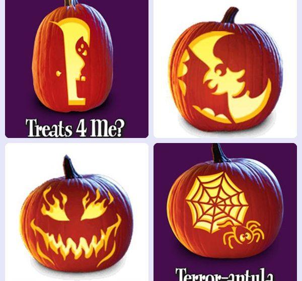 Plantillas gratis para decorar calabazas de halloween - Decoracion calabazas para halloween ...