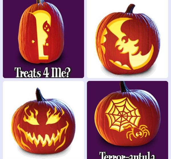 Plantillas gratis para decorar calabazas de halloween - Disenos de calabazas ...