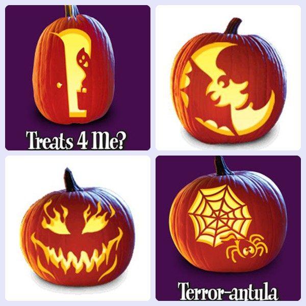 Plantillas gratis para decorar calabazas de halloween pequeocio - Decorar una calabaza de halloween ...
