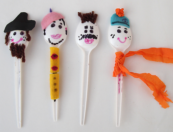 spoon puppets crafts for kids