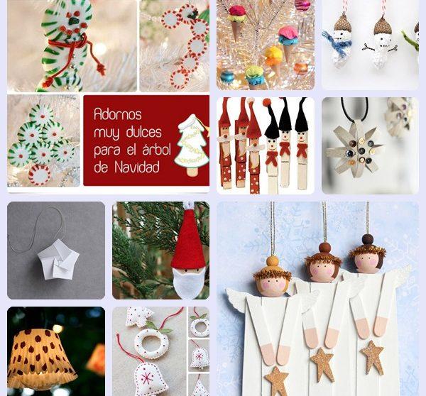 6ba4f064460 10 adornos caseros para el árbol de Navidad