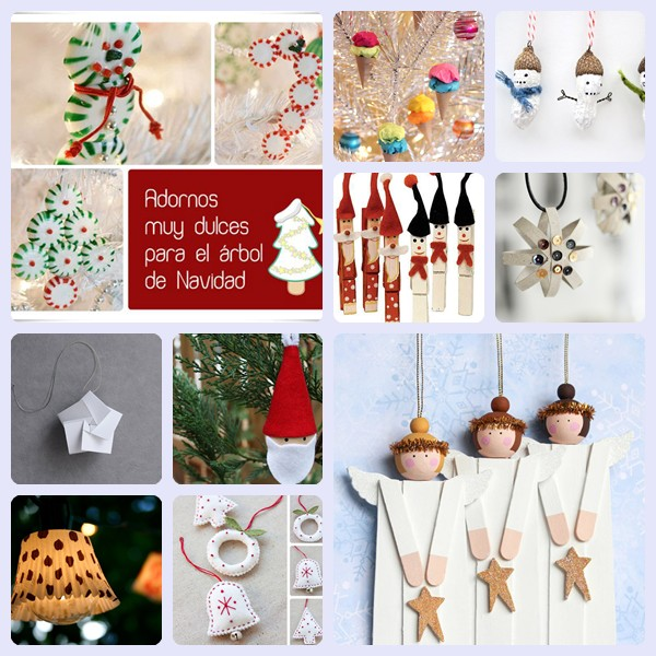 10 adornos caseros para el rbol de navidad pequeocio - Adornos para arbol navidad ...
