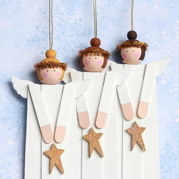 10 adornos caseros para el rbol de navidad pequeocio - Adornos navidenos artesanales ...