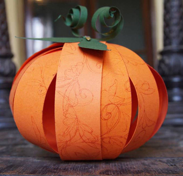 Ideas para hacer calabazas de papel for Como decorar una calabaza original