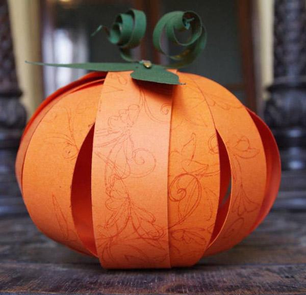 Ideas para hacer calabazas de papel pequeocio - Calabazas de halloween manualidades ...