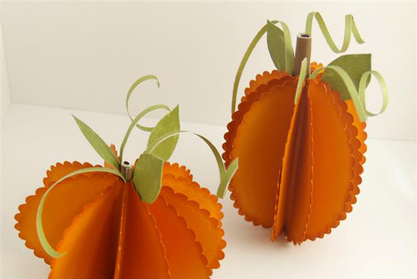 Ideas para hacer calabazas de papel pequeocio - Como hacer calabazas de halloween ...
