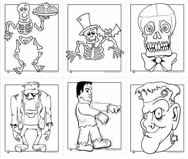 Lujoso Halloween Gratis Para Colorear Imprimible Composición ...