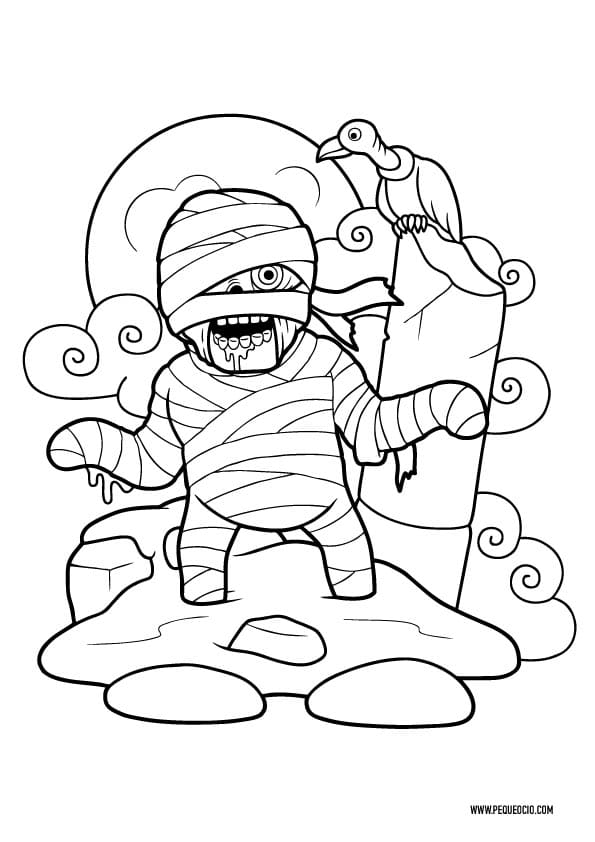 Dibujos para colorear de momias