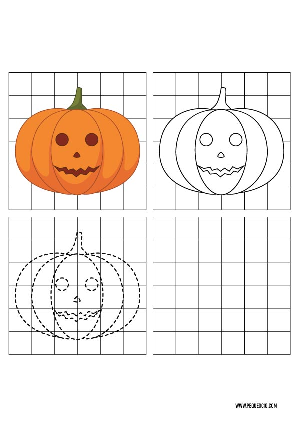 Dibujos de calabazas de Halloween para dibujar