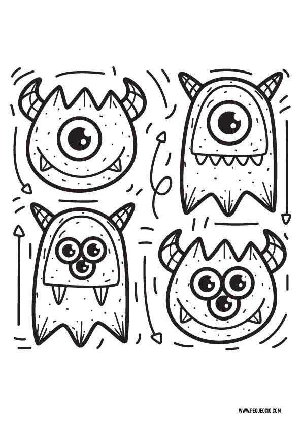 Dibujos de monstruos para pintar