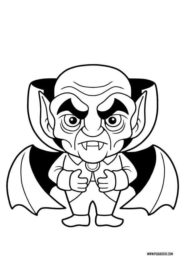 Dibujos para colorear de vampiros