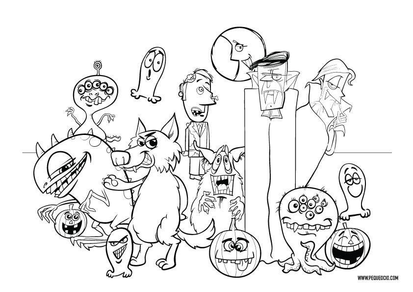 50 dibujos de Halloween para colorear e imprimir gratis 1