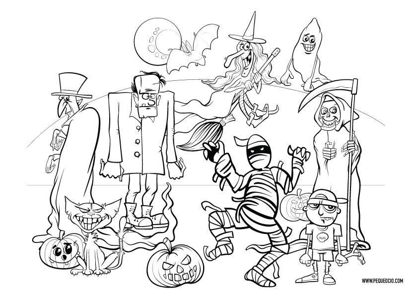 Dibujos para pintar de monstruos