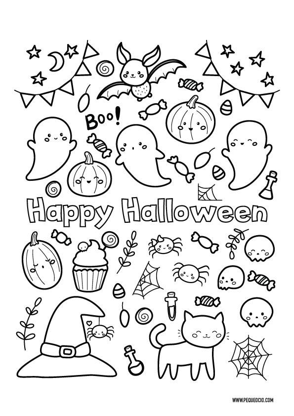 Dibujos de Halloween fáciles