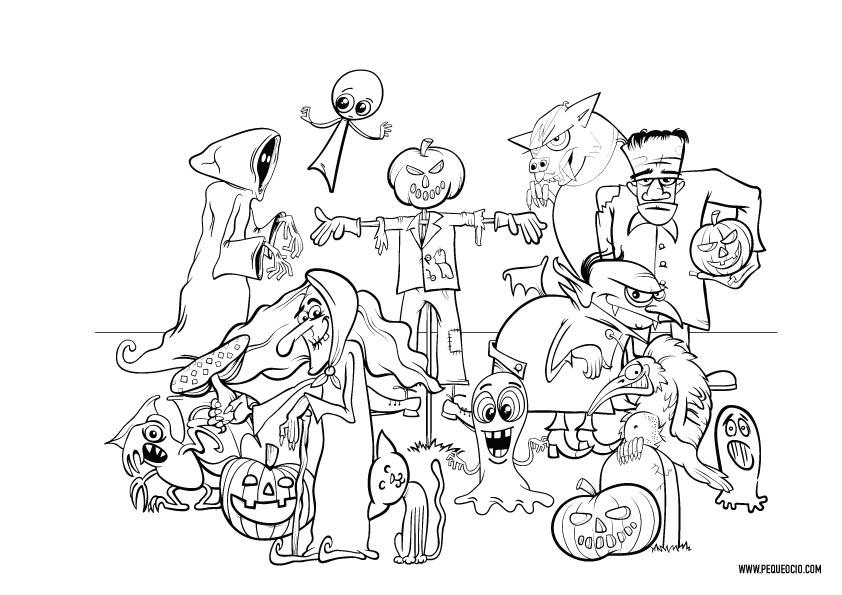 Dibujos de monstruos de Halloween