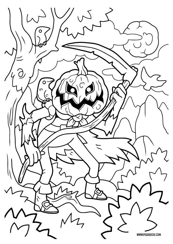 Dibujos fáciles para colorear de Halloween
