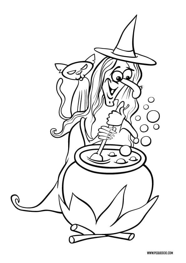 Dibujos para pintar de brujas