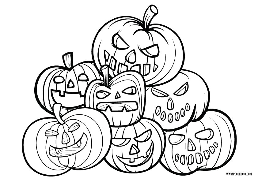 Calabazas de Halloween para pintar