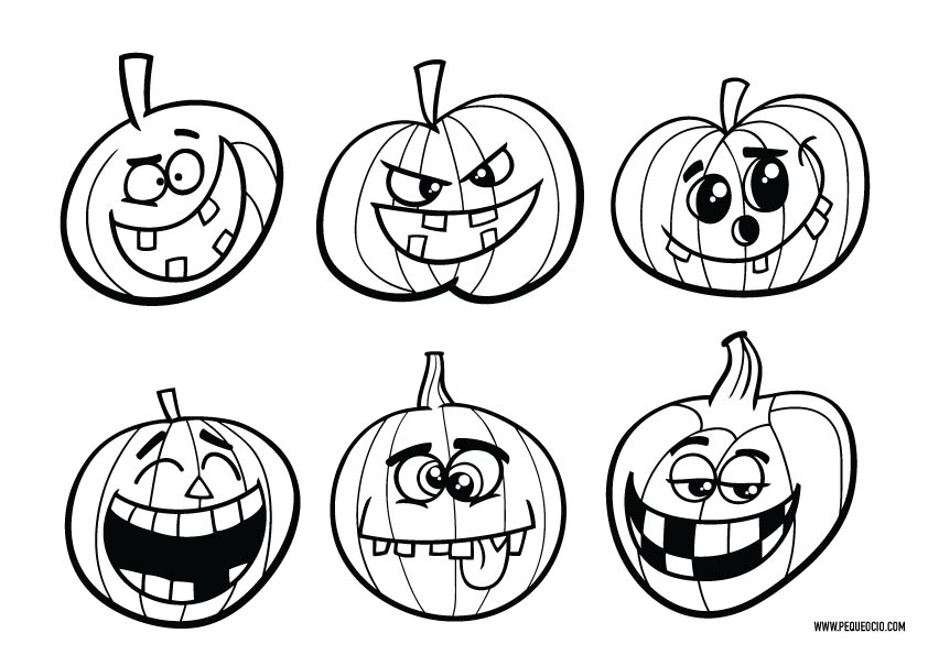 Calabazas de Halloween para colorear