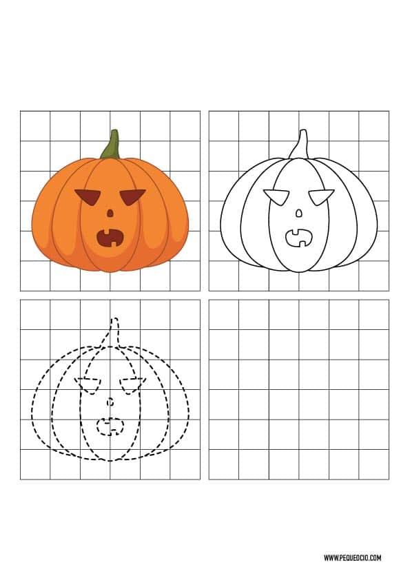 Dibujos de Halloween para copiar