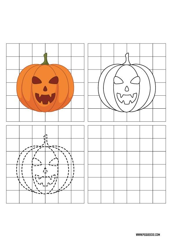 Cómo dibujar calabazas de Halloween