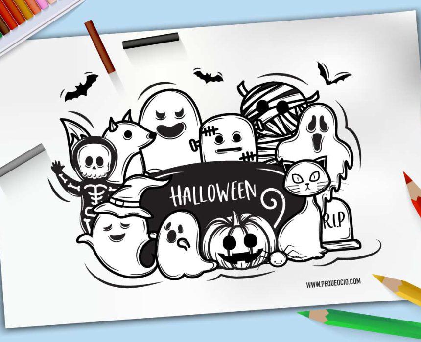 50 Dibujos De Halloween Para Colorear E Imprimir Gratis Pequeocio