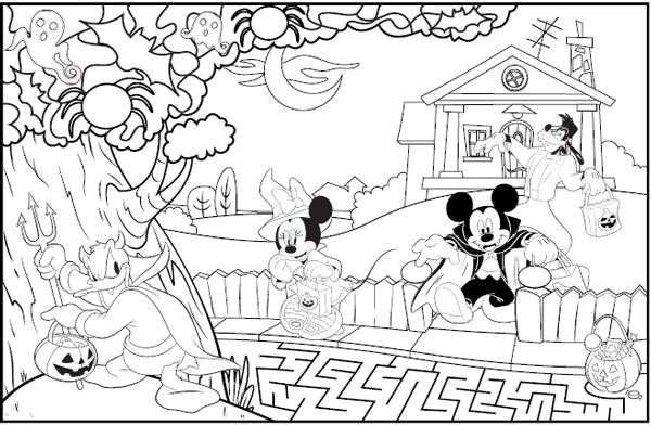 Dibujos de Halloween para colorear e imprimir gratis | Pequeocio.com