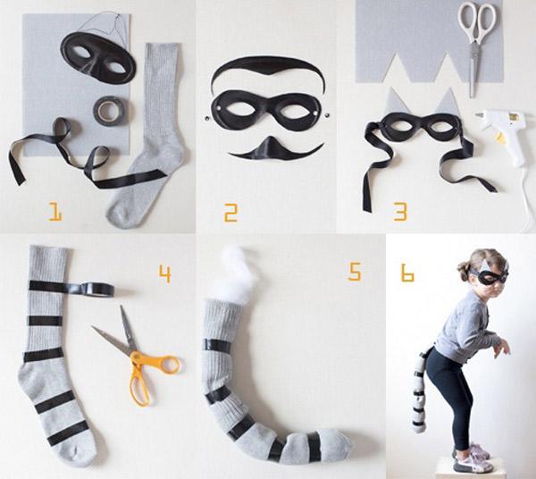 DIY Raccoon Halloween Costumes