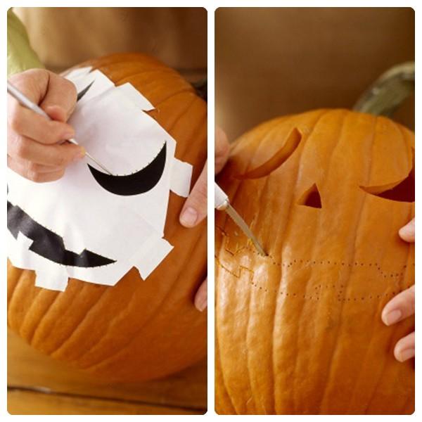C mo hacer una calabaza de halloween pequeocio - Calabazas pintadas y decoradas ...