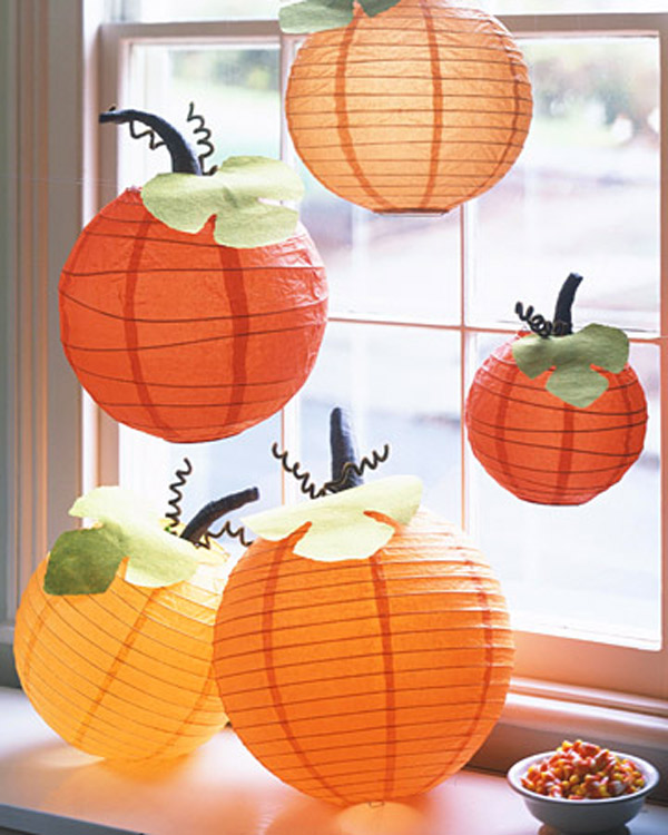 Halloween hacer calabazas de papel