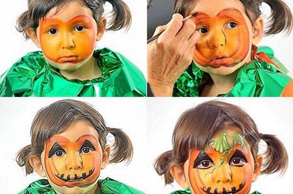 Maquillaje Halloween para niños calabaza