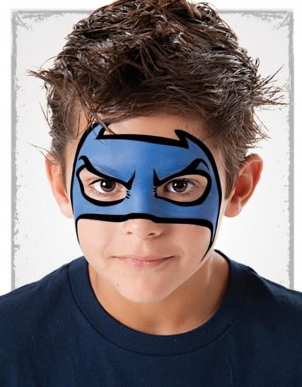 maquillaje para niños superheroe