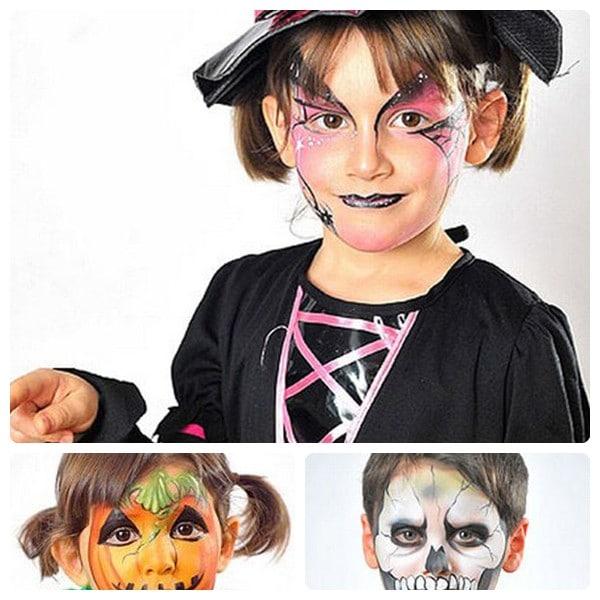 Maquillaje de halloween para ni os bruja esqueleto y - Como pintar la cara de nina de bruja ...
