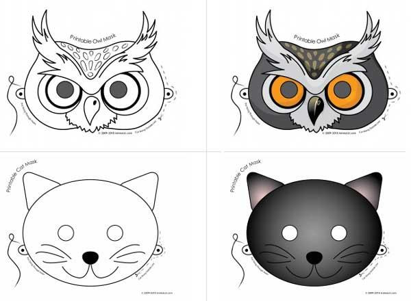 Mascaras De Halloween Para Imprimir Gratis Pequeocio