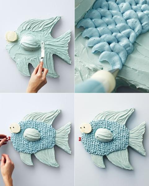 tarta pez pasos