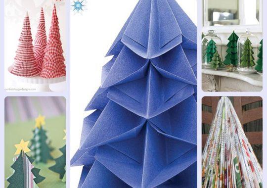5 árboles de Navidad de papel fáciles de hacer 1