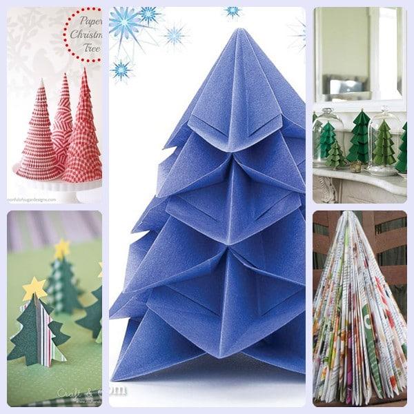 5 árboles de Navidad de papel fáciles de hacer - Pequeocio