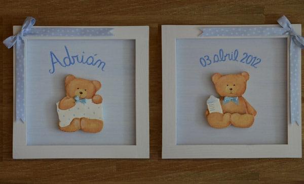Cuadros infantiles personalizados cositas con encanto - Cuadros para habitacion de bebe ...