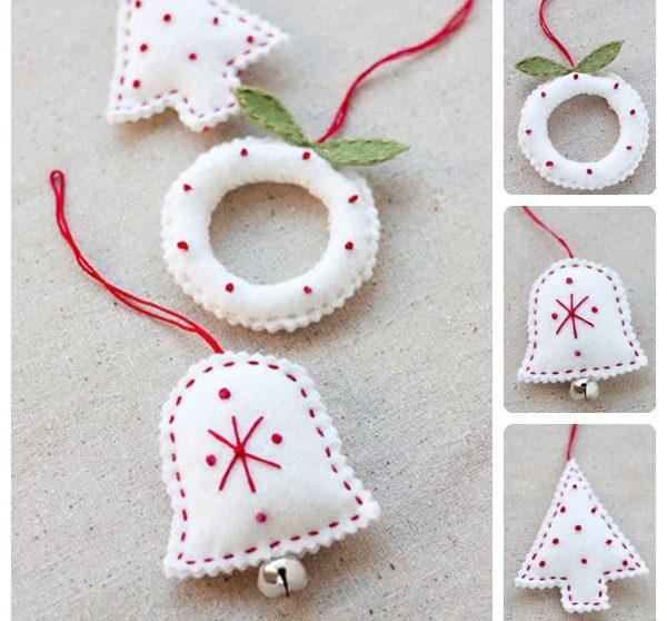 Cómo hacer adornos navideños de fieltro | Pequeocio.com