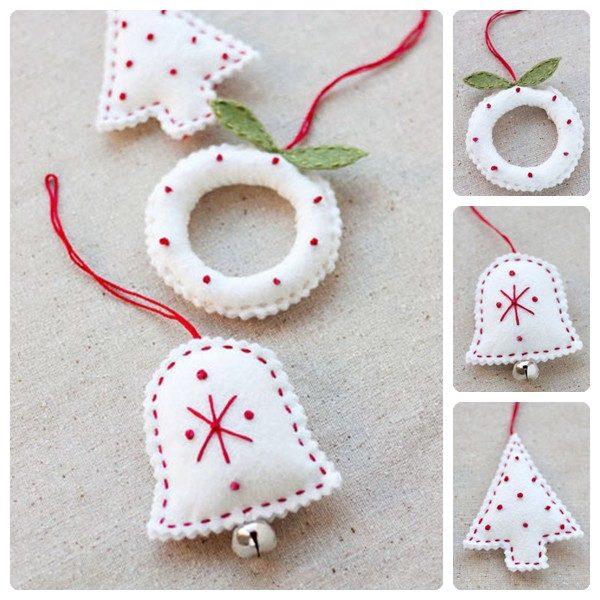 adornos navideos de fieltro si os gusta crear vuestros propios adornos de navidad este post os encantar hoy os enseamos a hacer adornos navideos de - Como Hacer Adornos De Navidad
